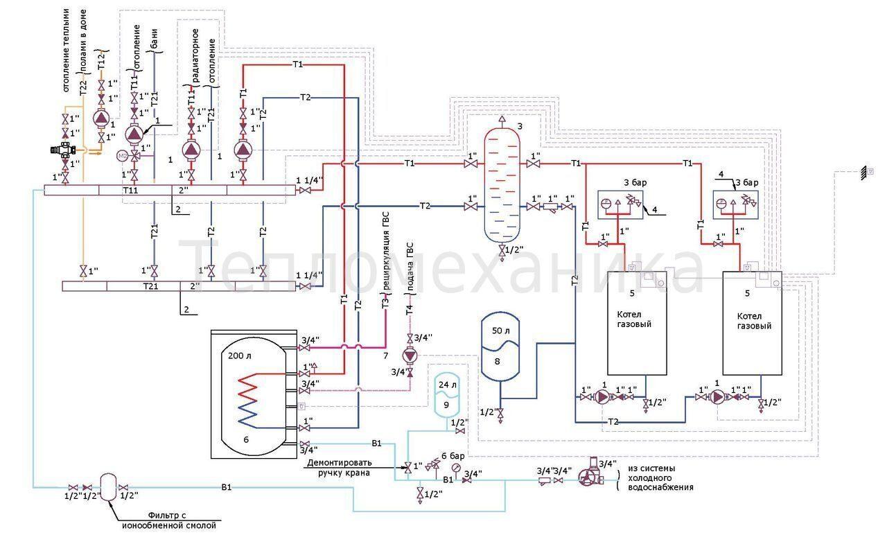 электрическая схема подключения газовых котлов